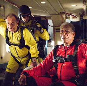 Nicholson and Freeman in The Bucket List