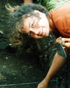Debra doing archaeology