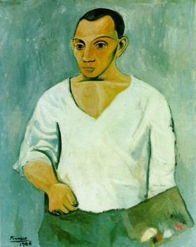Picasso, self-portrait, age 25