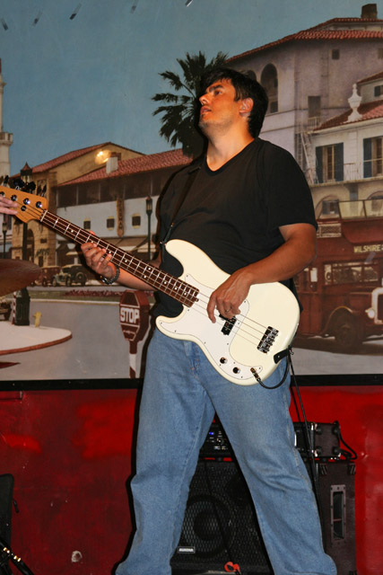My hubby Dave with his P-Bass