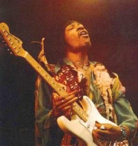 Jimi Hendrix and his Stratocaster