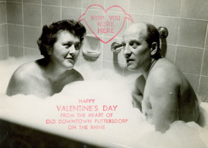 Julia Child in Paul's Valentine card