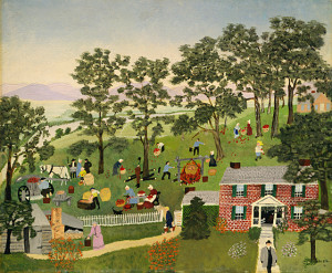 "Grandma Moses, ""Apple Butter Making"""