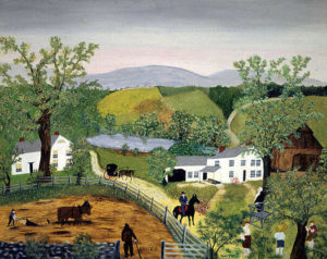 "Grandma Moses, ""The Pond"""