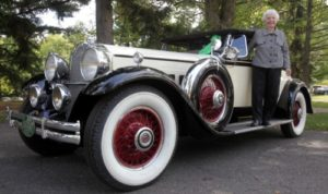Margaret Dunning and her 1930 Packard