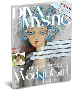 "I share my story of early responsibility and blooming late in Diva Mystic magazine's May/June ""Working Girl"" issue."